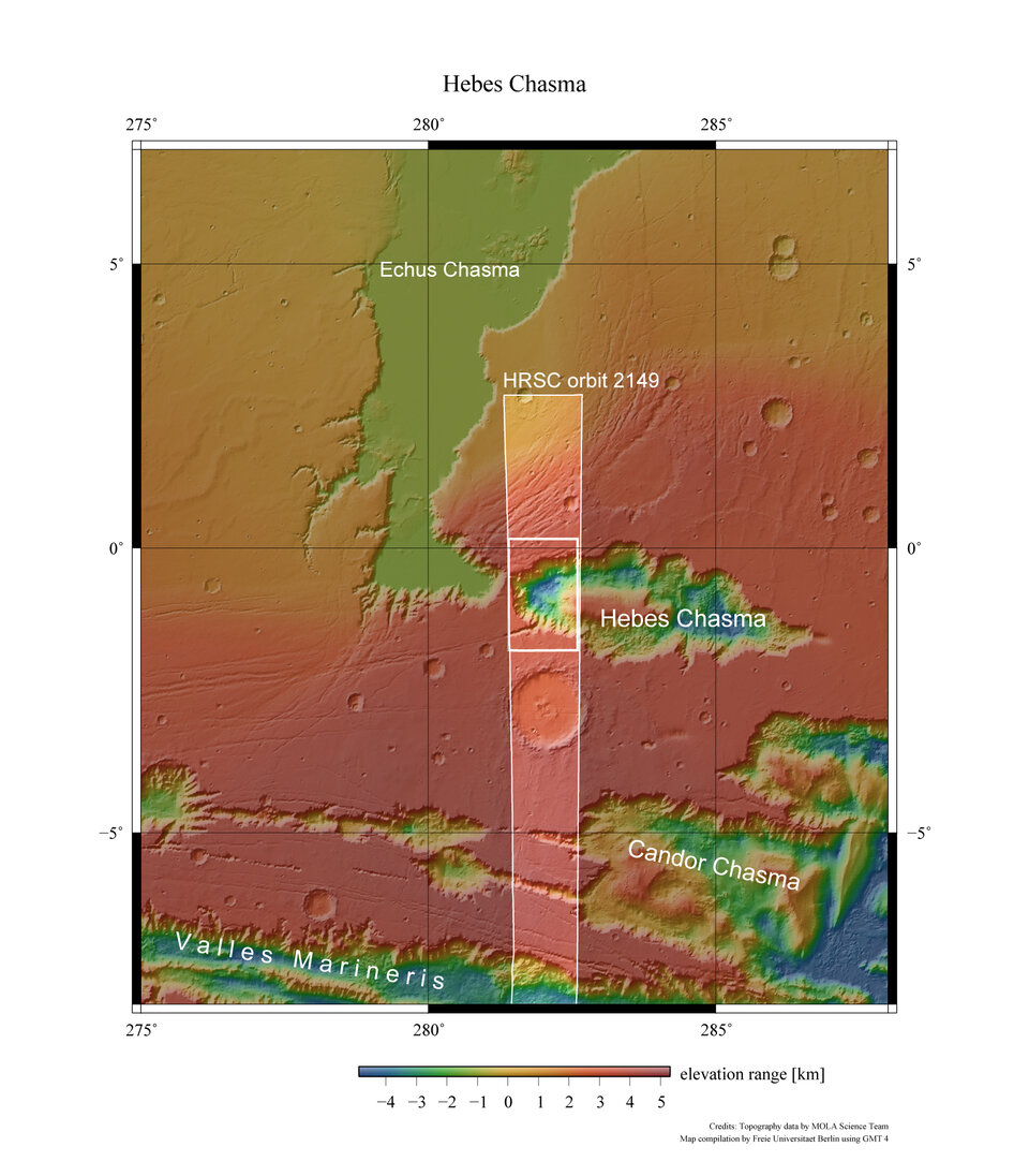 Hebes Chasma context map