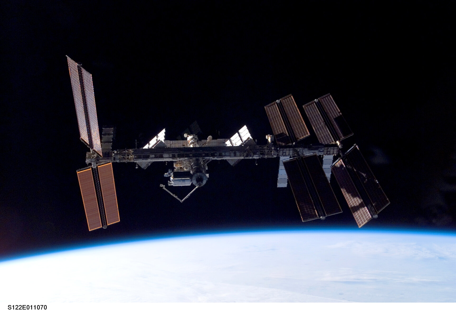 International Space Station seen from Space Shuttle Atlantis