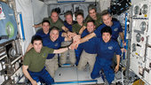 Crew on board ISS