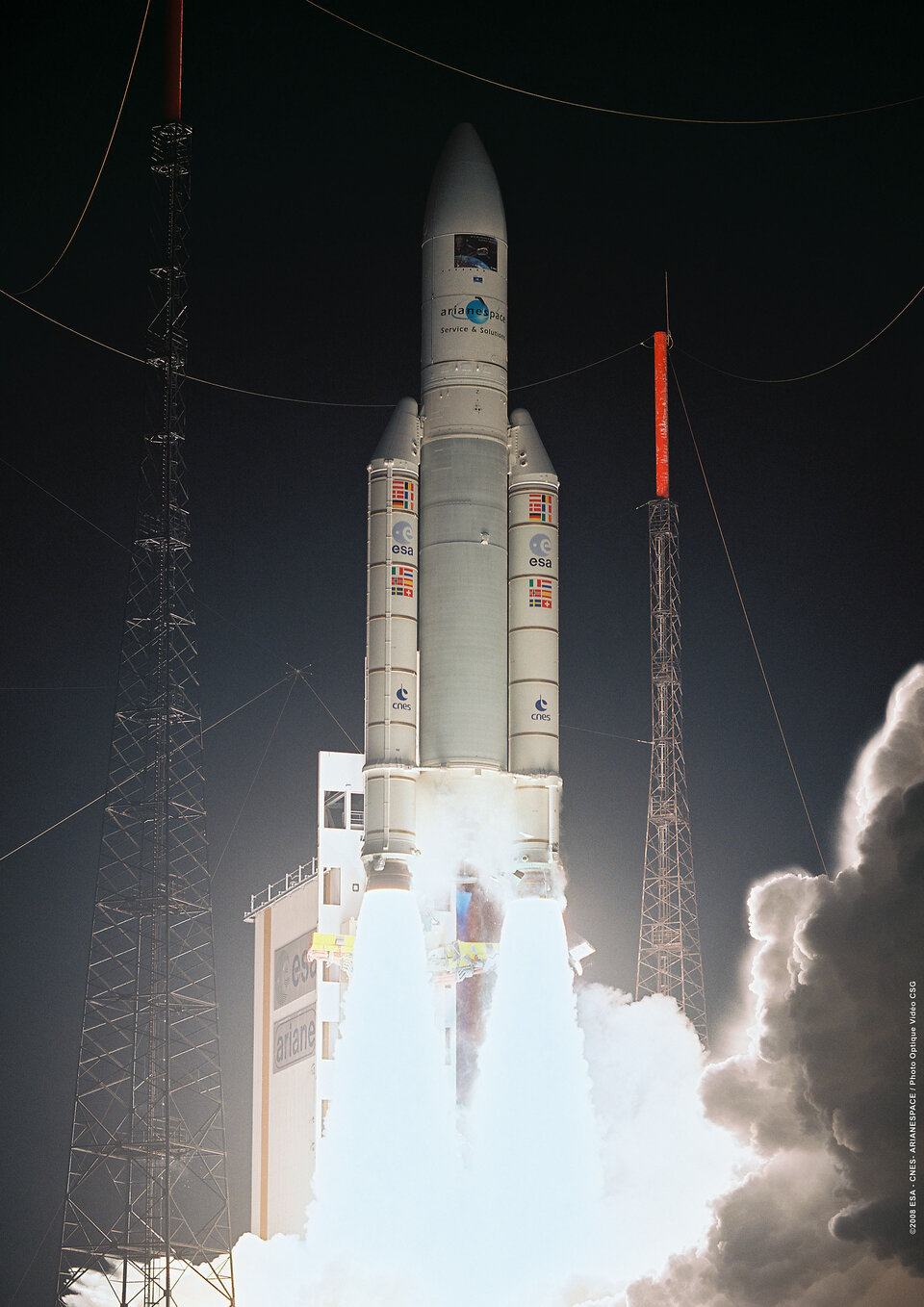 Jules Verne ATV liftoff from Kourou, French Guiana