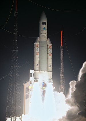 Liftoff of the Ariane 5 ES-ATV launcher