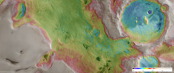 Promethei Planum, false-colour nadir view