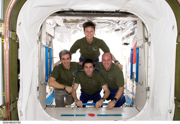The ISS Expedition 16 resident crew