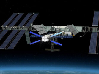 Animation of the ISS re-boost performed by Jules Verne ATV