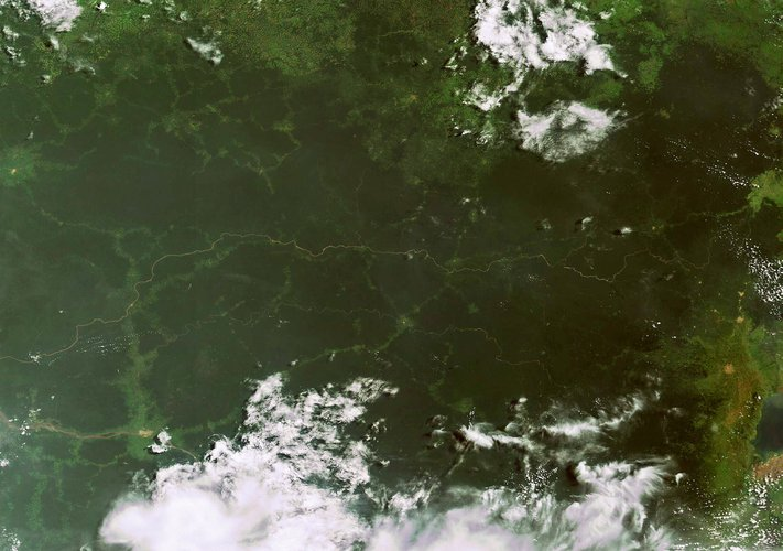 Envisat image of the Democratic Republic of Congo