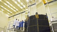 Herschel solar array and sunshield