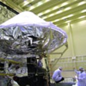 Herschel telescope resting on cryostat