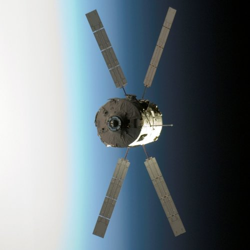 ATV Jules Verne approaches Space Station