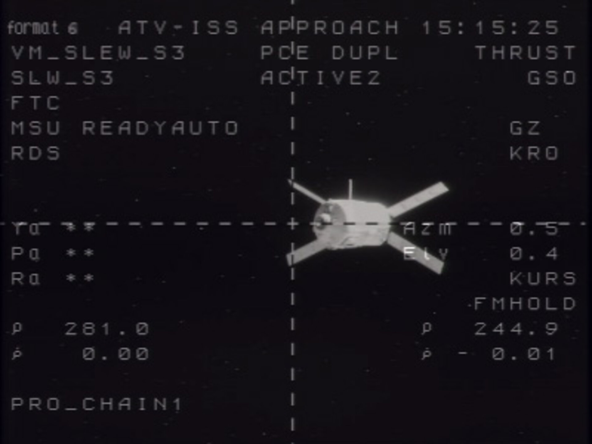 Jules Verne ATV approaches the ISS during the second of two demonstration days prior to docking
