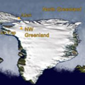 Main sites for CryoVEx 2008