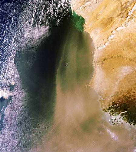 Sahara sand and dust seen by ESA's Envisat