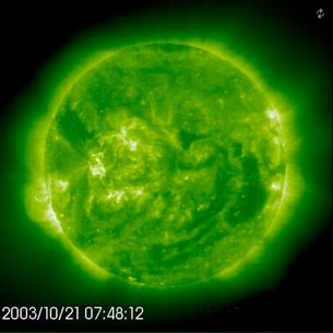 Solar flare caught by SOHO