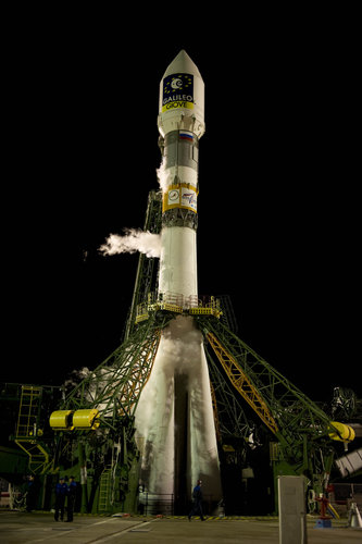 Soyuz-Fregat launch vehicle before lift-off