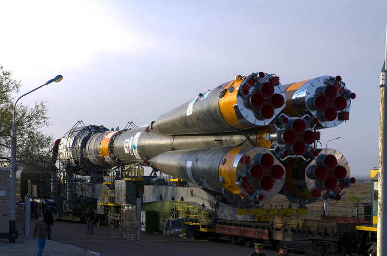 Soyuz-Fregat launch vehicle carrying GIOVE-B