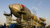 Soyuz-Fregat launch vehicle carrying GIOVE-B transfer