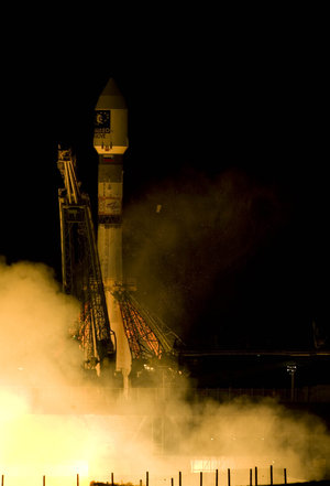 Soyuz-Fregat launch vehicle lifts off