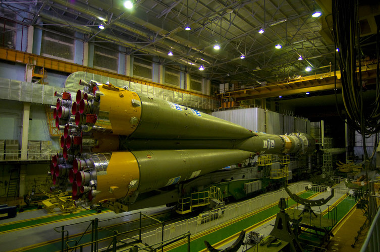 The Soyuz-Fregat launch vehicle carrying GIOVE-B