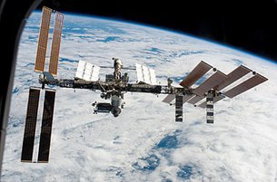 View of ISS after undocking Endeavour