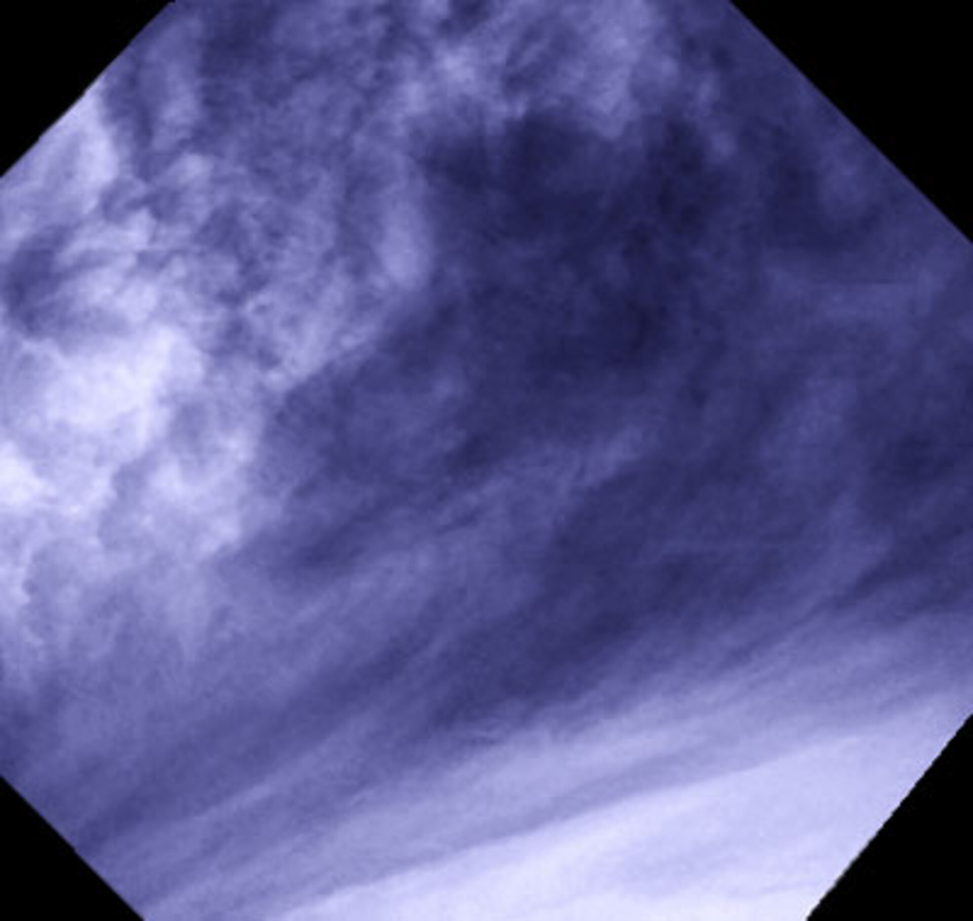 Close-up on venusian clouds at mid-latitudes
