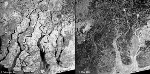 Flooding in the Irrawaddy delta, Myanmar