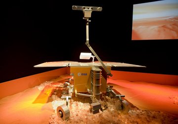 Full-scale model of ESA's ExoMars rover, to be launched in 2013
