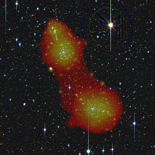 Galaxy clusters Abell 222 and Abell 223