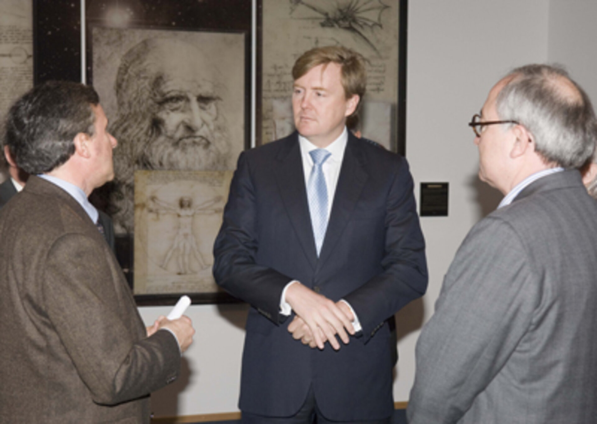 Massimo Bandecchi greets Prince Willem Alexander