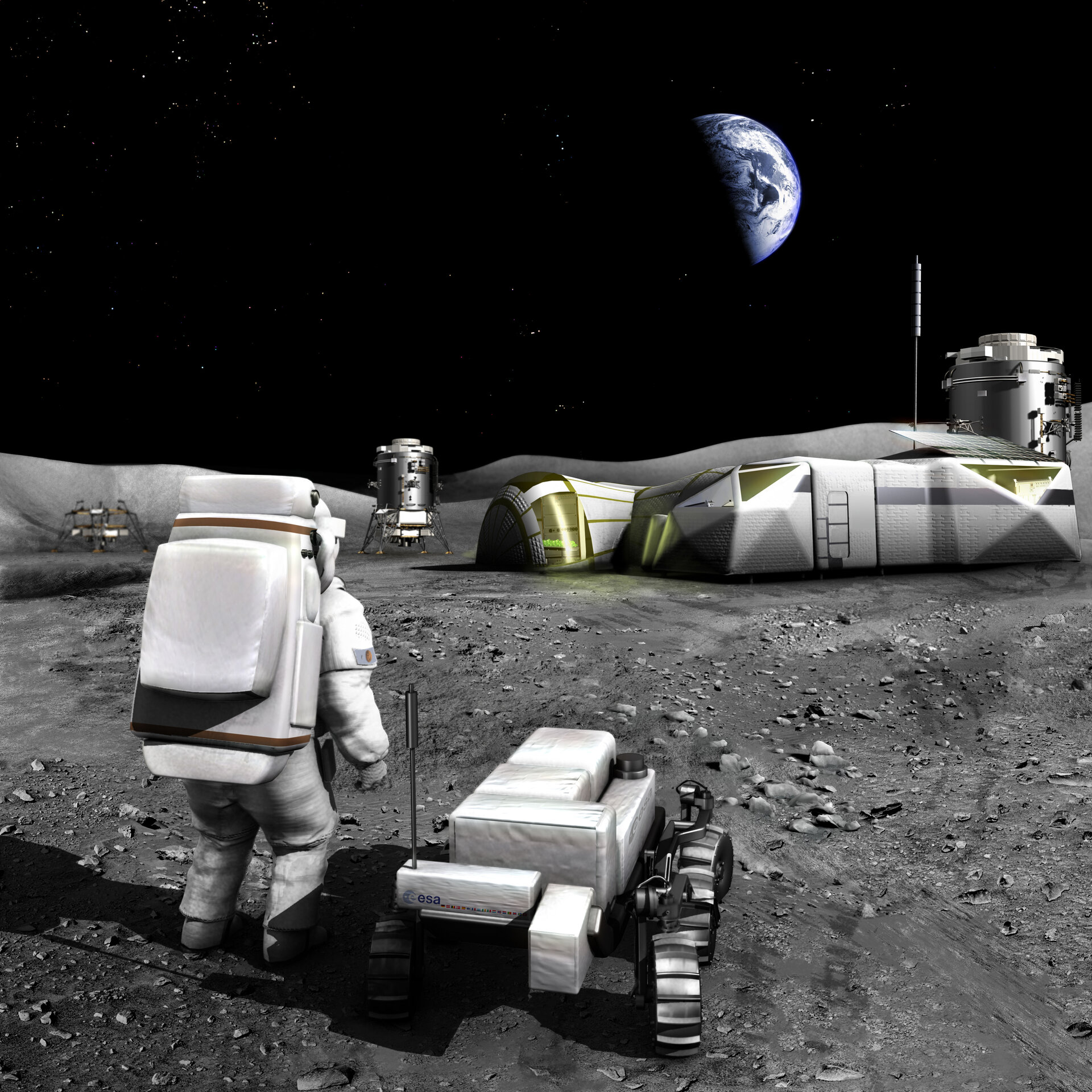 Moon base – artist's view