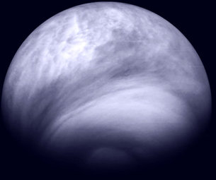 Southern hemisphere of Venus in the ultraviolet