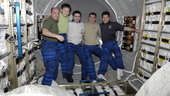Expedition crews inside Jules Verne ATV