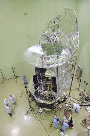 Herschel being prepared for acoustic tests