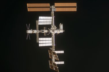 The International Space Station photographed by an STS-124 crew member