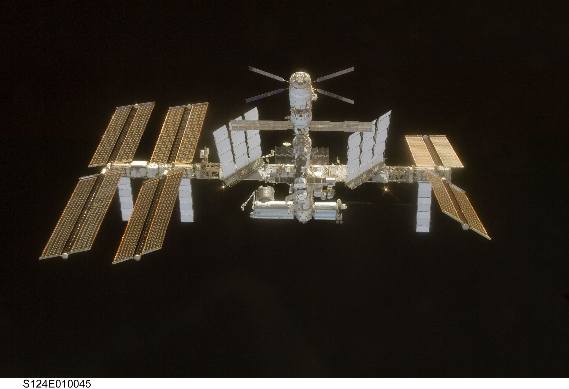 ATV is seen top-centre in this recent photo of the International Space Station