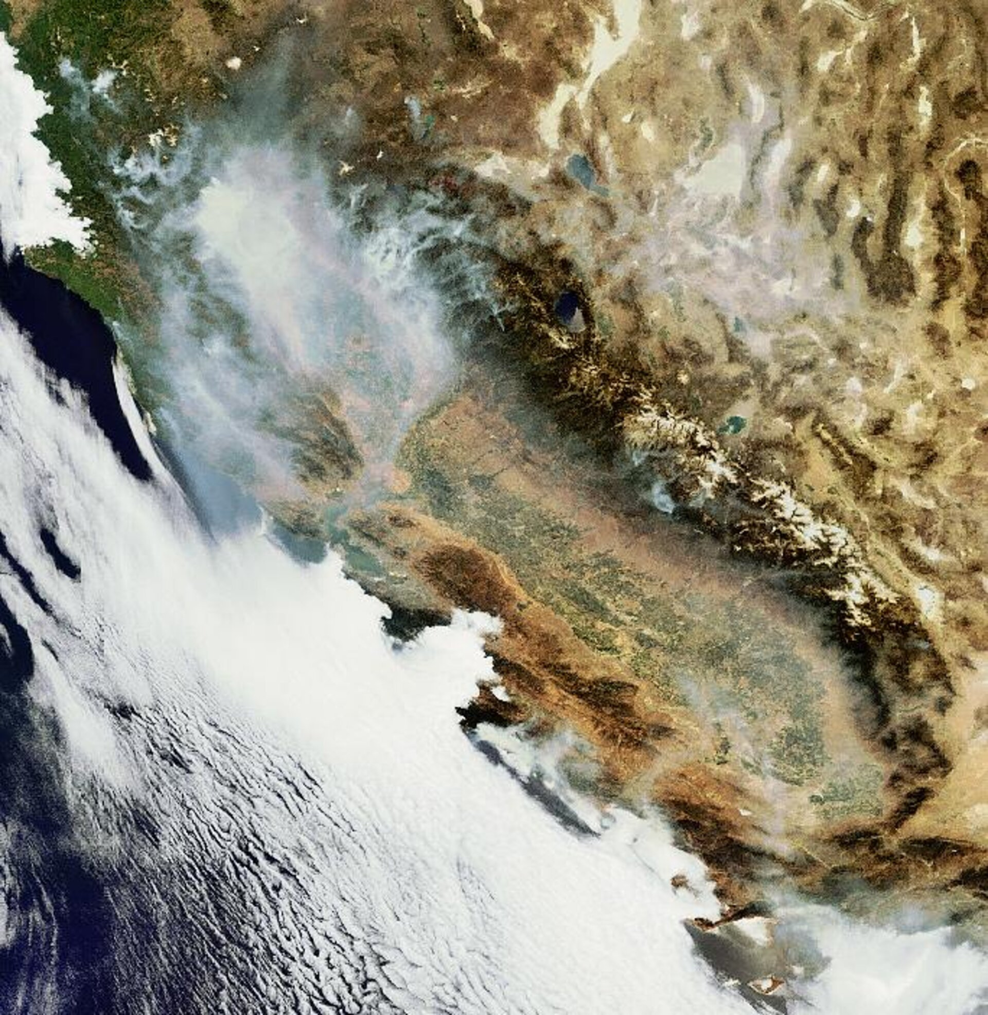 Billowing smoke from Northern California wildfires