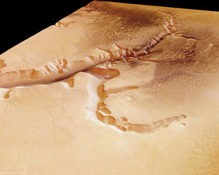 Echus Chasma, perspective view