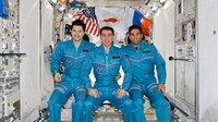 Expedition 17 ISS crew portrait inside Kibo