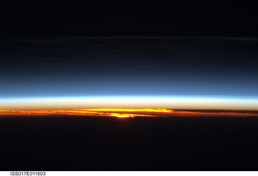 Orbital sunrise over central Asia as seen from the International Space Station