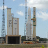 Ariane 5 is moved to the launch zone