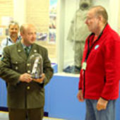 Commander Koronov receives a GOCE model