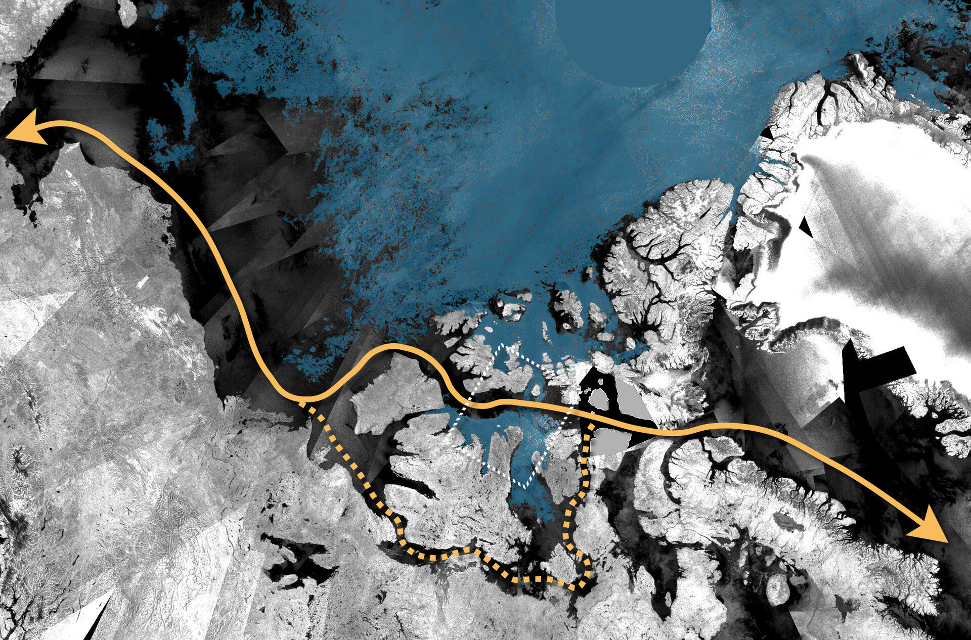 Direct route through the Northwest Passage