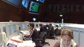 ESA mission controllers in simulation for GOCE launch