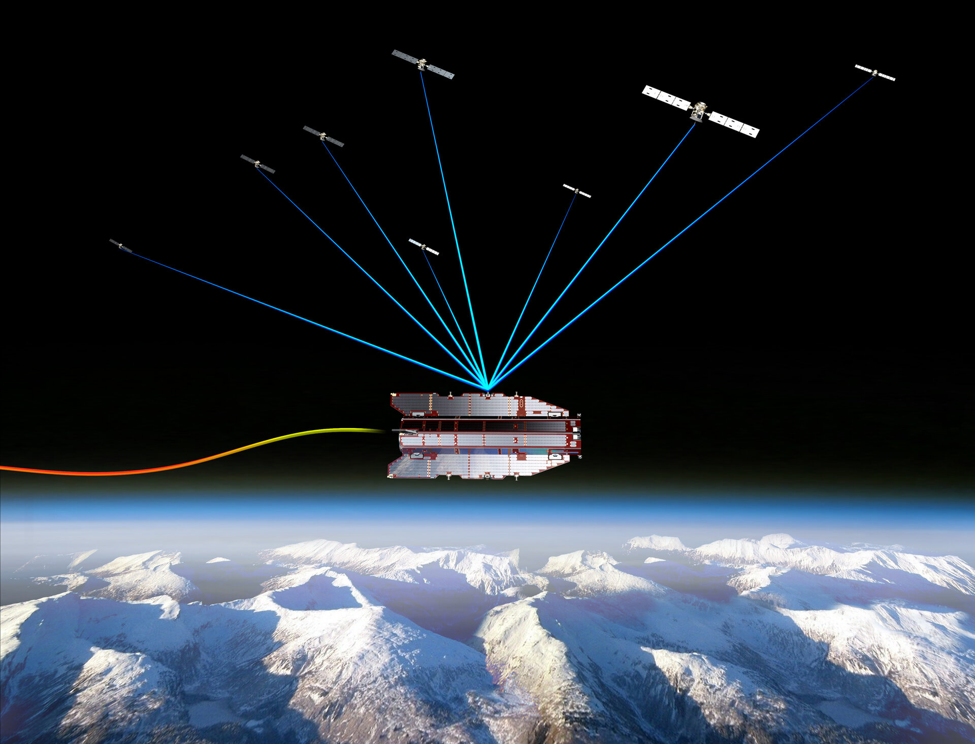 GOCE tracked by GPS satellites
