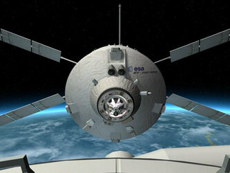 Animation of the Jules Verne ATV leaving the ISS