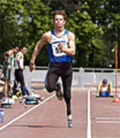 German athlete Wojtek Czyz trains for the Paralympics
