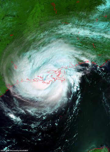 Hurricane Gustav captured by Envisat