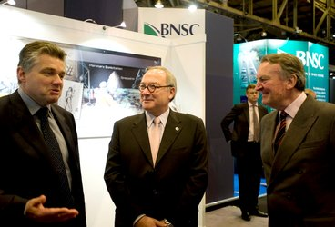 Jean-Jacques Dordain meets Ian Pearson and Paul Flanagan at IAC 2008