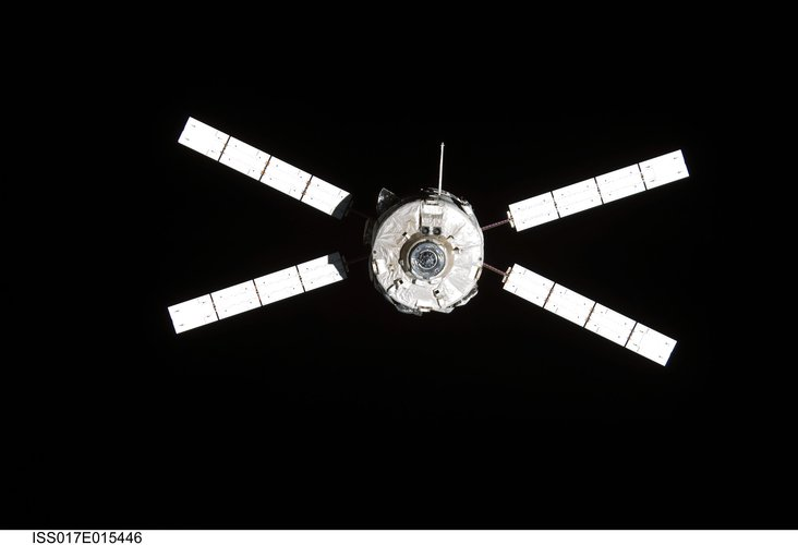 Jules Verne ATV following undocking from the International Space Station