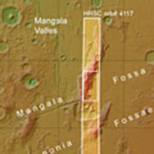 Mangala Fossae context map
