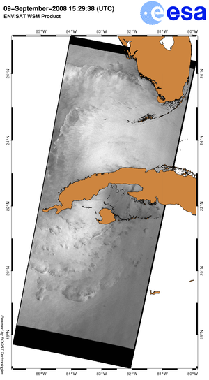 Sea surface roughness over Cuba