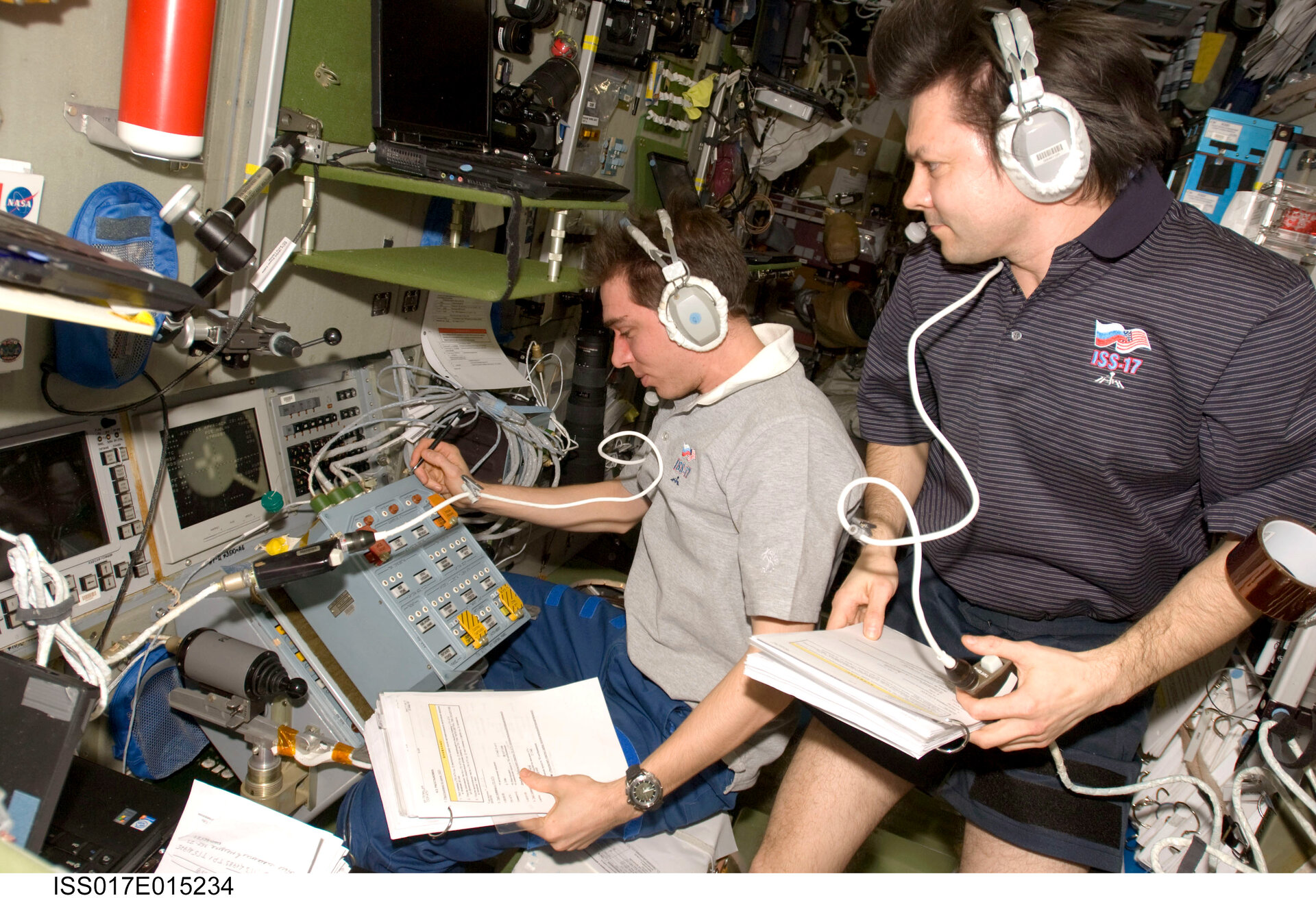 Space Station crewmembers prepare for undocking of Jules Verne ATV